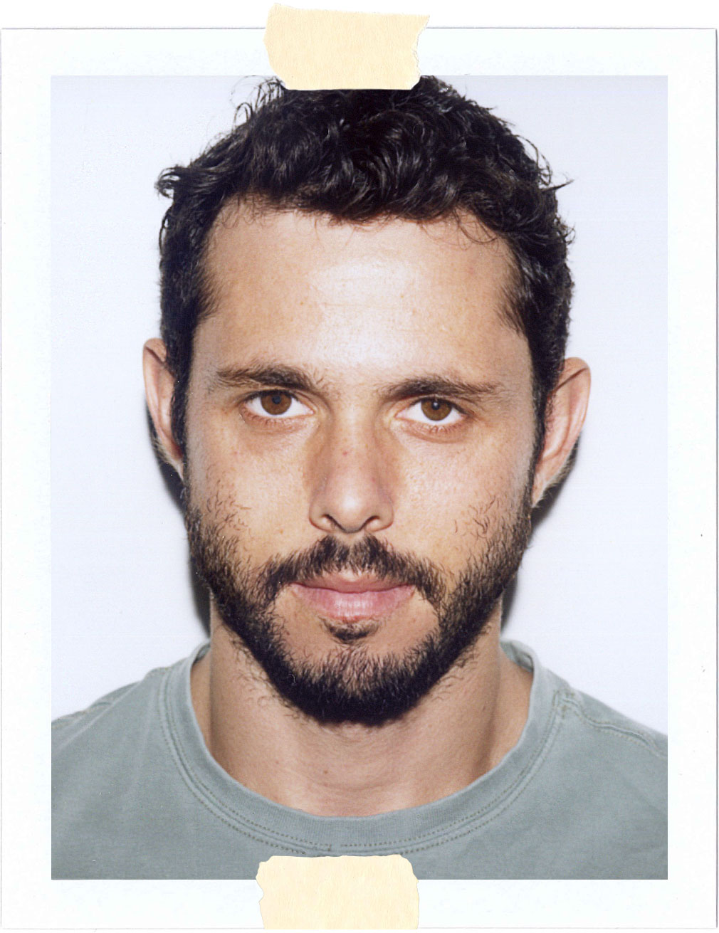 Polaroid Portrait of Chef Ari Taymor for Nice People Only by Jane Smith Creative Agency