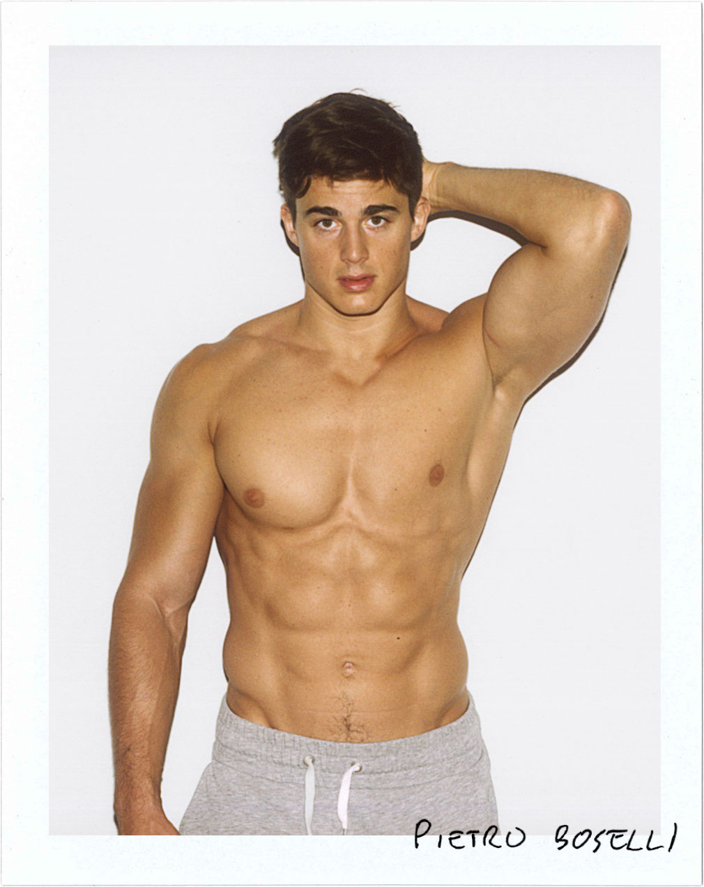 Fashion Model Pietro Boselli Polaroid for Nice People Only by Jane Smith Creative Agency