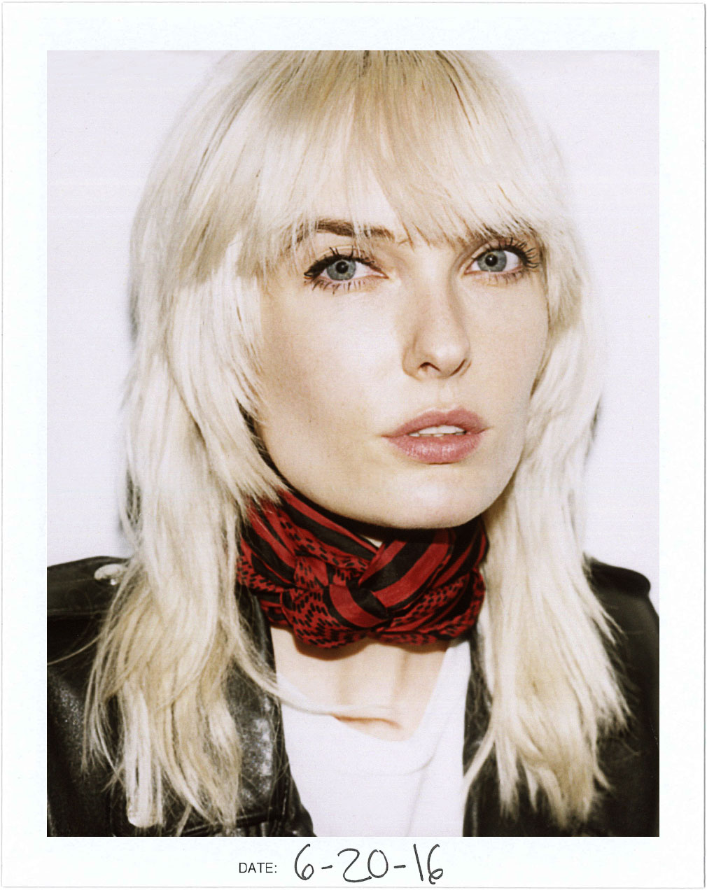 Singer & Songwriter Ace Harper Polaroid for Nice People Only by Jane Smith Creative Agency